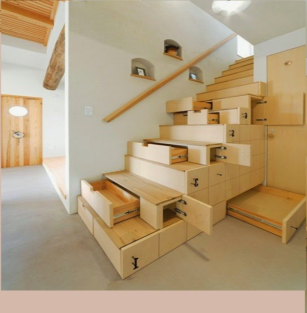 Functional space saving stairs 15 designs and ideas - Staircase designs for small spaces set ...