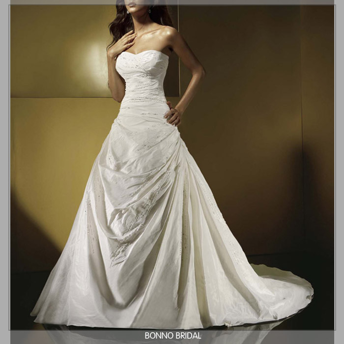 v neck plus length wedding dresses