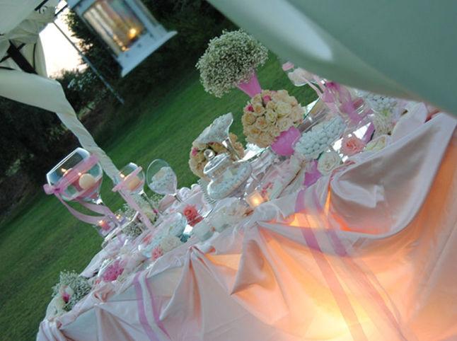 Guida al matrimonio la confettata - Tavolo da sposa a casa ...