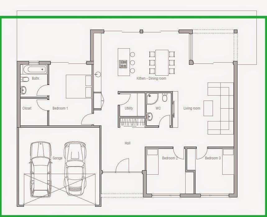 denah rumah minimalis ala eropa denah rumah minimalis atap limas denah