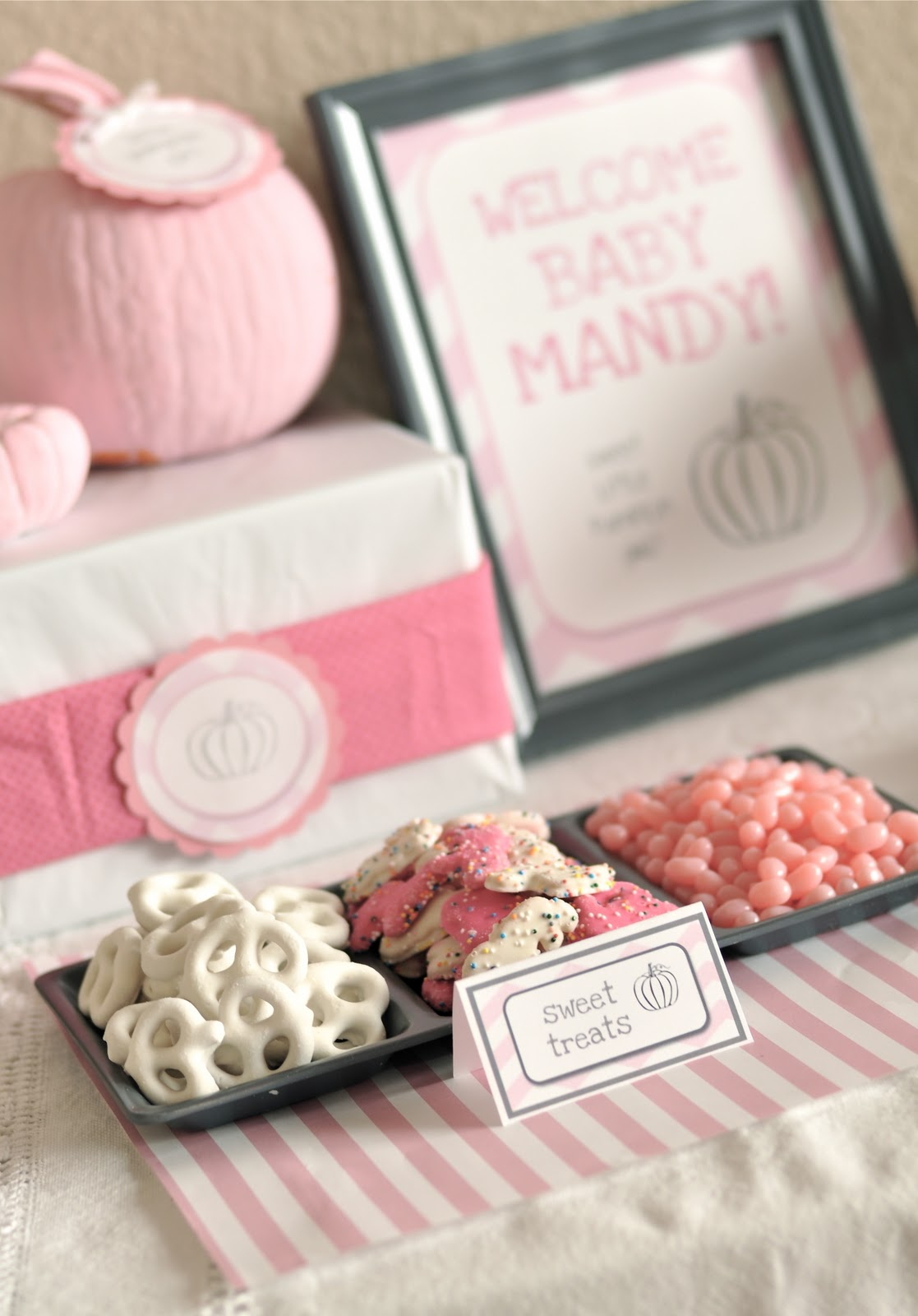 Little Girl Pumpkin Baby Shower Party Ideas