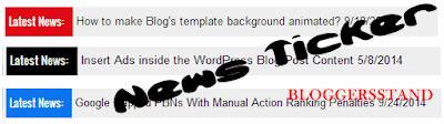 Stylish Latest Trending News Ticker Widget For Blogger