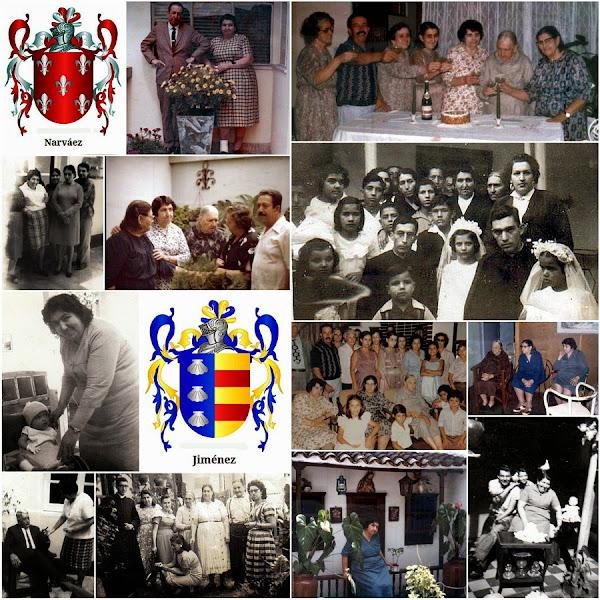 Collage durante varias épocas de la vida de Inés Narváez de Jiménez
