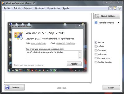 Capturador de pantalla para Windows gratis