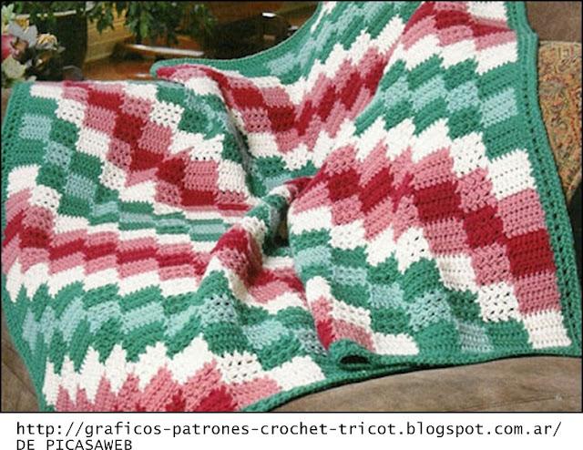 Tejidos a crochet ganchillo patrones mantas tejidas a - Patrones de mantas a crochet ...