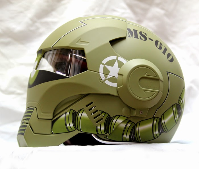 gundam zaku us army motorcycle helmet avail by masei