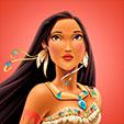 Invitacion de Cumpleaños de Pocahontas Princesas Disney