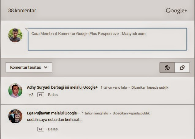 Cara Membuat Komentar Google Plus Responsive and Fast Loading di Blog