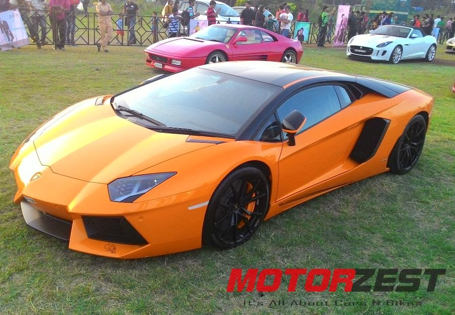 Lamborghini Aventador at 2015 Parx Super Car Show in Mumbai