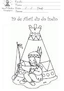 Postado por Pedagoga (atividades dia do indio desenhos para colorir )