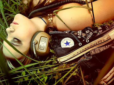 Girls with headphones converse wallpapers