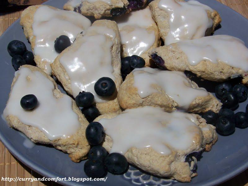 Kitchen Simmer: Blueberry Scones with Lemon Glaze