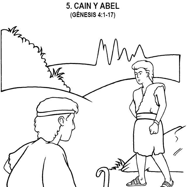 Dibujo de Cain y Abel para colorear ~ Dibujos Cristianos Para Colorear