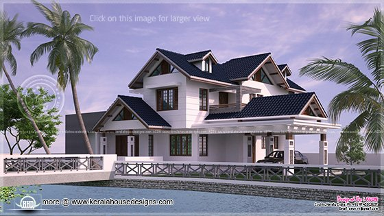 River side elevation view