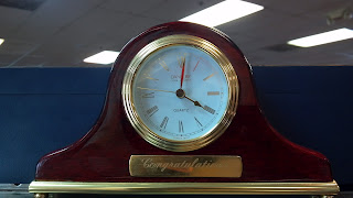 clock that says congratulations