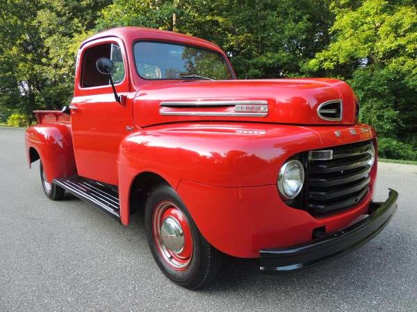 1950 ford f1 red on red show quality auto restorationice for Metro motors bakersfield ca