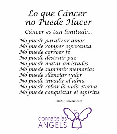 donnabellas angels what cancer cannot do inspirational poem