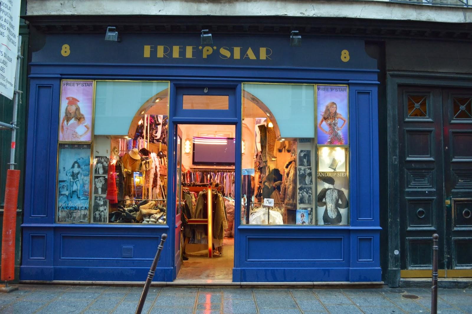 Free 'P' Star Vintage shopping in Le Marais Paris