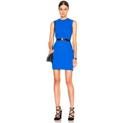 grife victoria beckham vestido azul