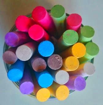 Kolorowa kreda do tablicy