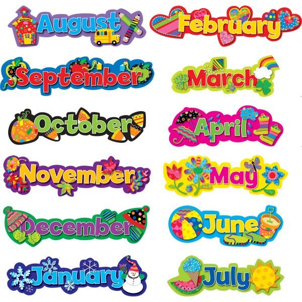 Monthly Calendar Headings : Sg osfera maría josé argüeso aprendemos los meses en