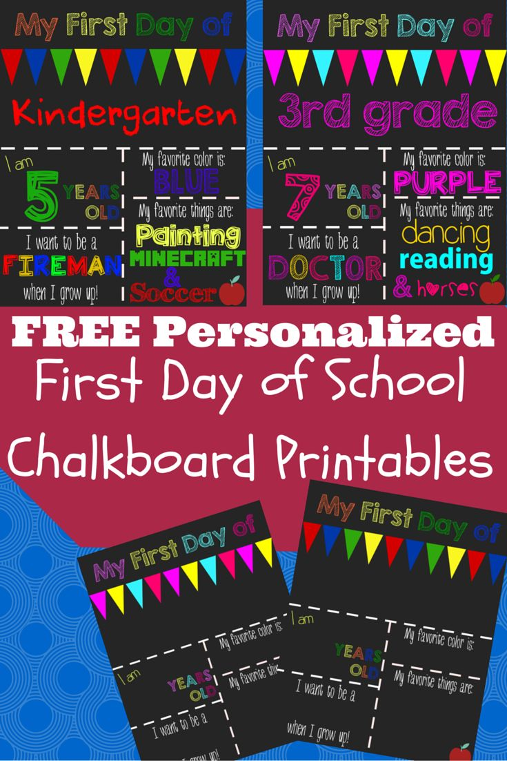 Free Printable Worksheets For First Day Of School : A happy frugal life free printable st day of school signs