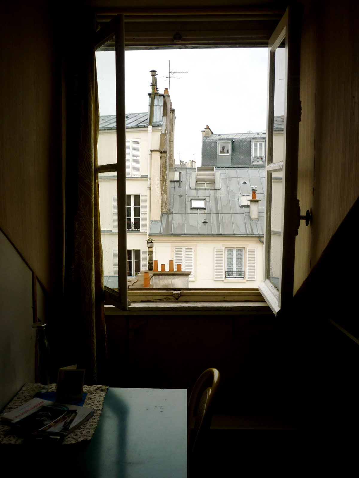 Open window at night -  From Four A M Baked Baguettes That Floats Around My Courtyard Up Towards My Apartment And Through My Open Window That Overlooks The Roofs Of Paris