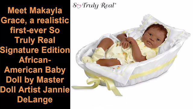 Realistic African-American Baby Doll: Makayla Grace by Ashton Drake