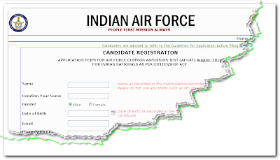 AFCAT 2013 Online Form