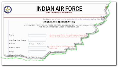 AFCAT 2013 Online Form