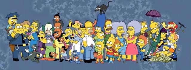 Los Simpsons portada con todos los personajes