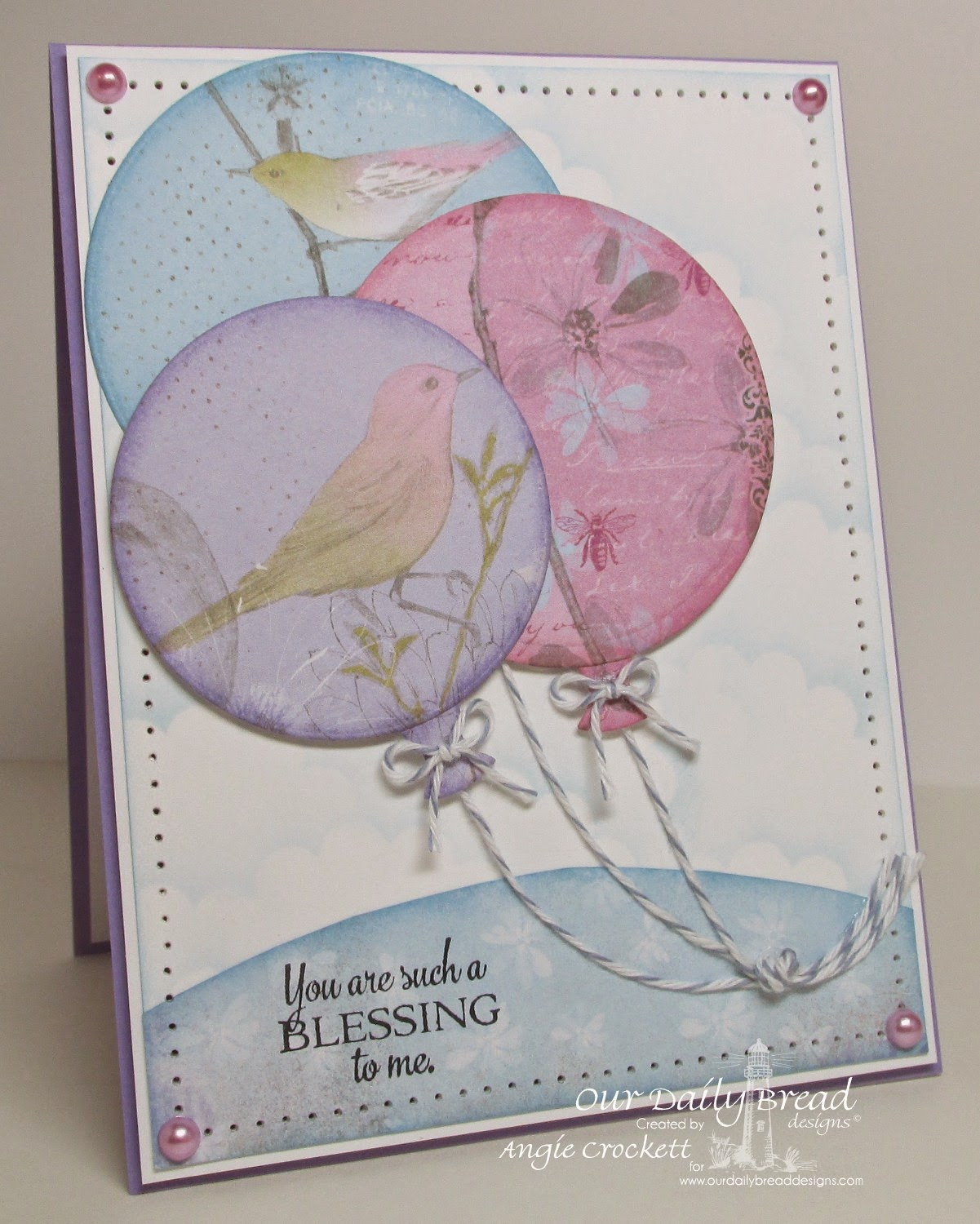 ODBD Doily Blessings, ODBD Custom Circle Ornaments Dies, ODBD Custom Matting Circles Dies, Card Designer Angie Crockett