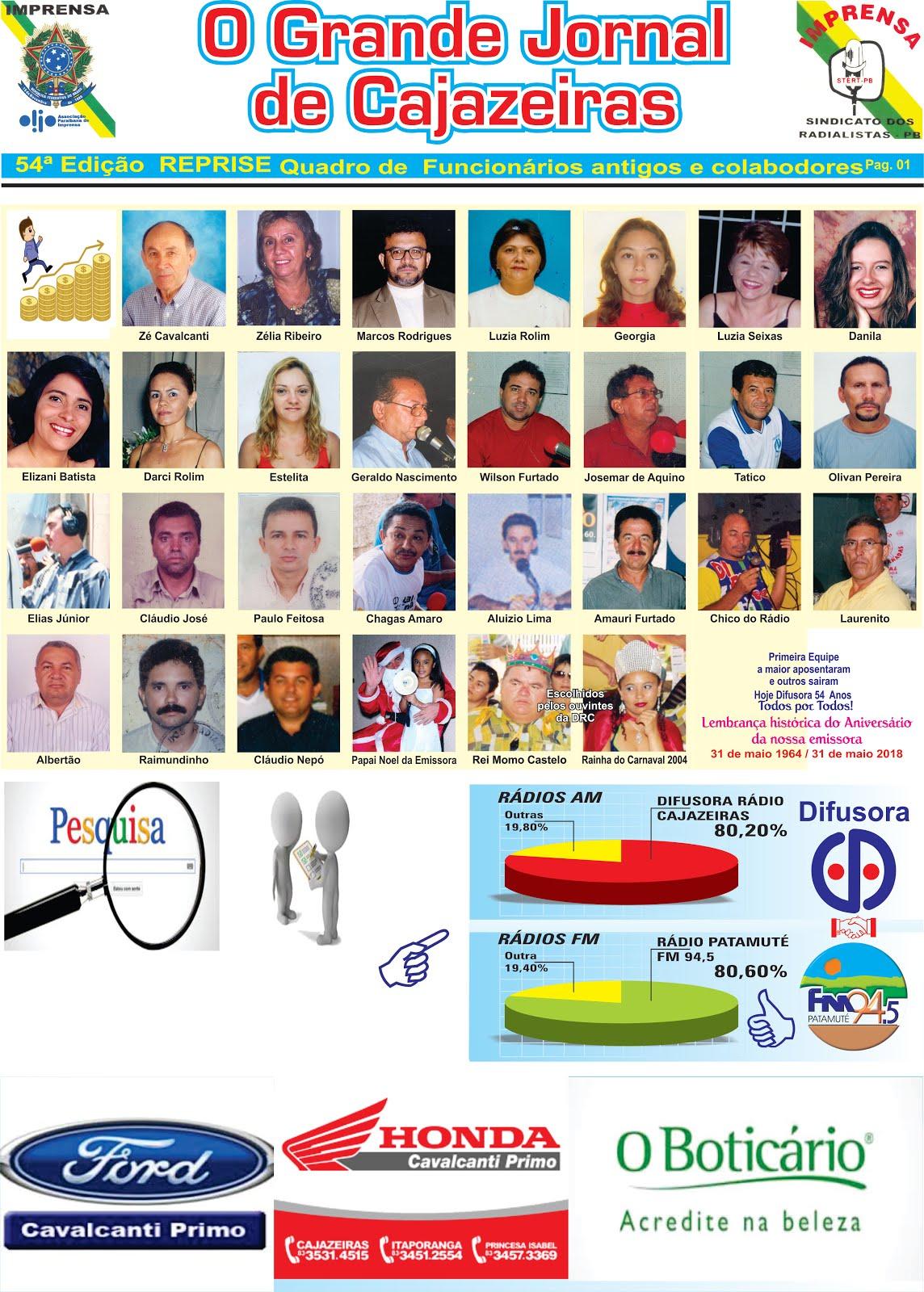 ANTIGOS  E CONTÍNUOS FUNCIONÁRIOS  DA DIFUSORA RÁDIO CAJAZEIRAS  PB
