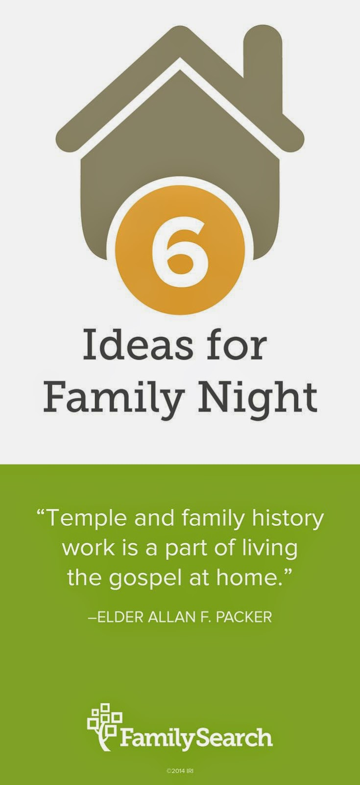Rejoice and be exceeding glad six family history for Idea door family home evening