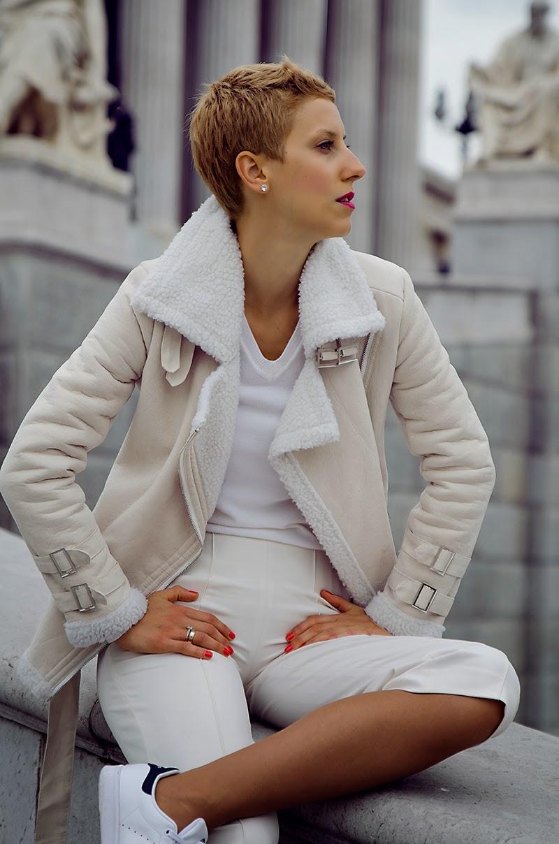 culottes adidas stan smith shearling jacket beeswonderland