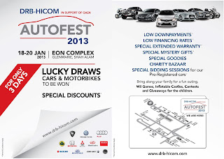 WIN A BRAND NEW CAR AT DRB-HICOM AUTOFEST 2013 | BLOG PERADUAN TERKINI