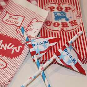 Popcorn  Peanuts and PAPER STRAWS