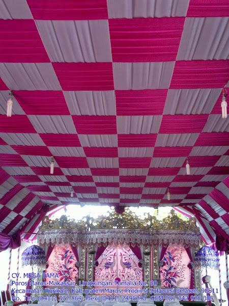 Plafond Catur Pink Putih