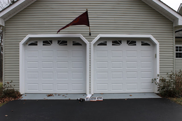 Paint Speckled Pawprints Garage Door Facelift