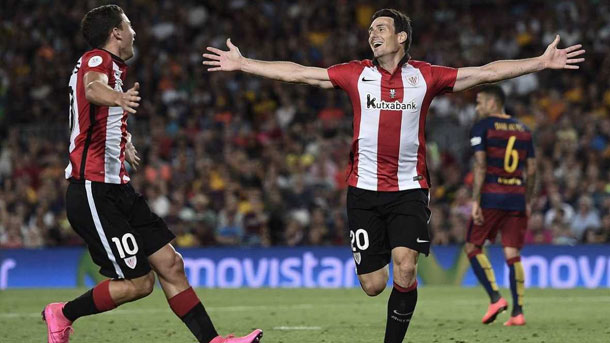 Aritz Aduriz confía en la remontada del Athletic al Barça en Copa