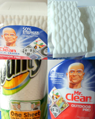 P&amp;G, Proctor &amp; Gamble, Bounty, Mr. Clean Outdoor Pro, Mr. Clean Outdoor Eraser
