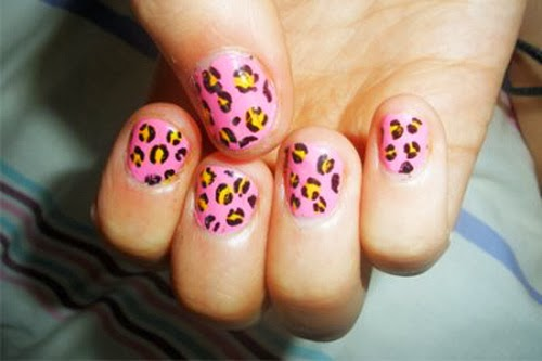 The Cool Cheetah nail art designs Photograph