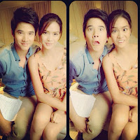 Mario Maurer and Erich Gonzales Suddenly It's Magic film shooting
