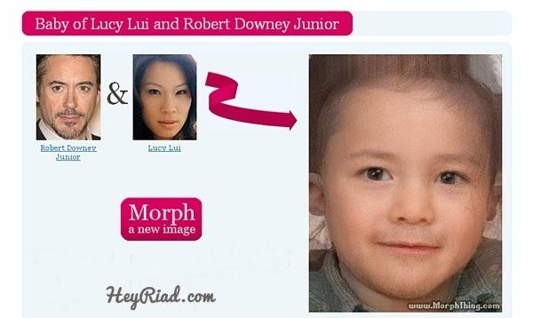 Dua wajah yang dikombinasikan Lucy Lui dan Robert Downey Junior