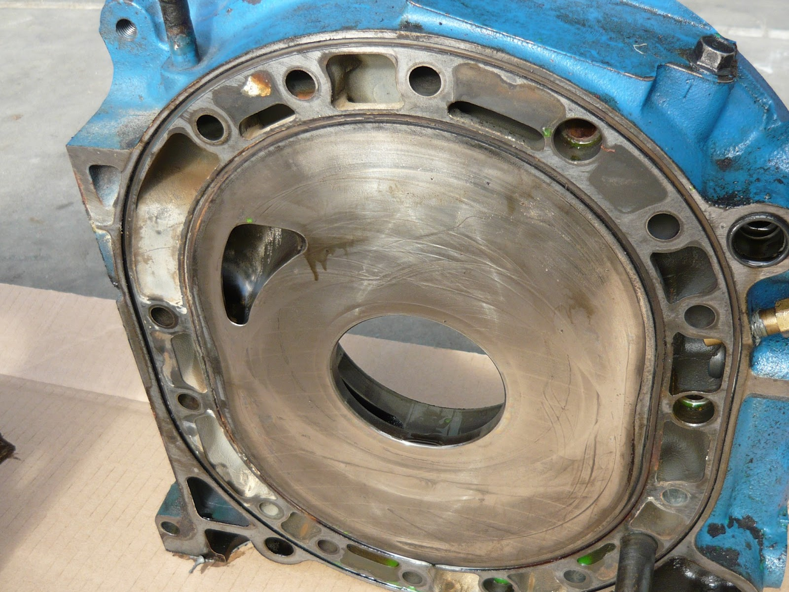 Christie Pacific Case History Rx7 Rotary Engine Meltdown Timing Belt All The Damaged Parts In A Row
