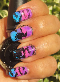 China Glaze Electric Nights Born Pretty BPL-025 HD04 stamping nail art