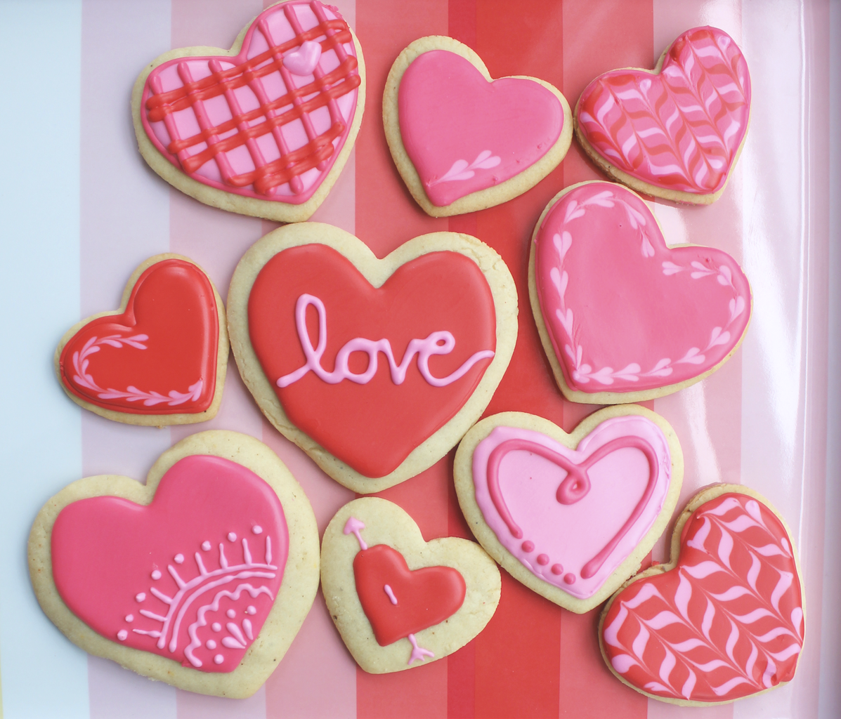 Amp potty mouths valentine s day cookies heart marbling bidness