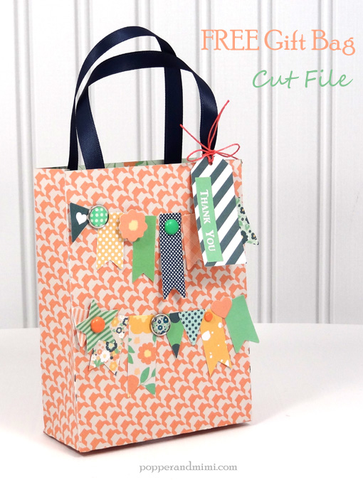 Free Gift Bag Cut file