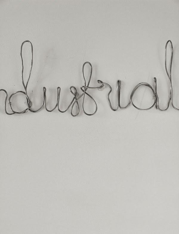 industrial, skriva med ståltråd, inspiration från styleroom, tips, diy inredning, pyssel, ståltråd, panduro, industristil, kök