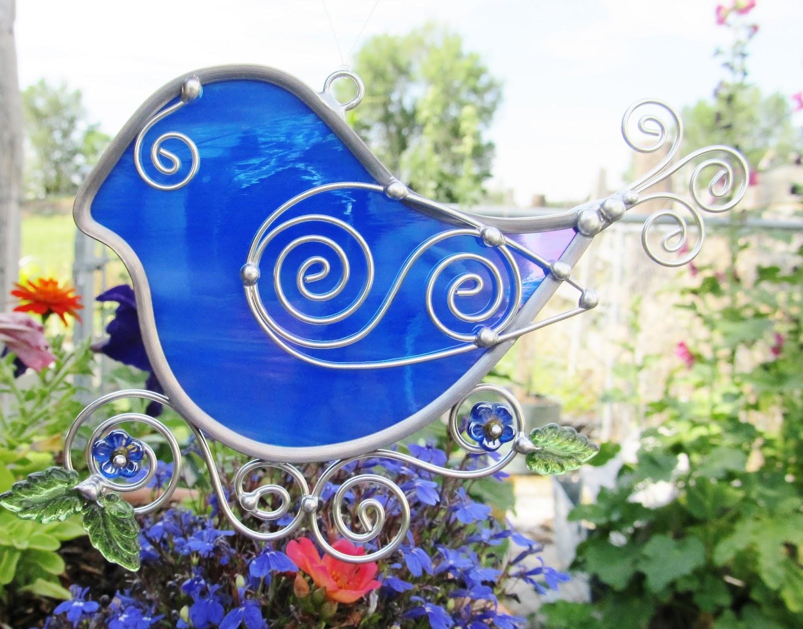 Stained Glass Blue Birds On Wire Center Grvkmr123 Circuit Diagram For Rc Cartransmitter Jasglassart Original Designs In Iridescent Rh Blogspot Com Medical